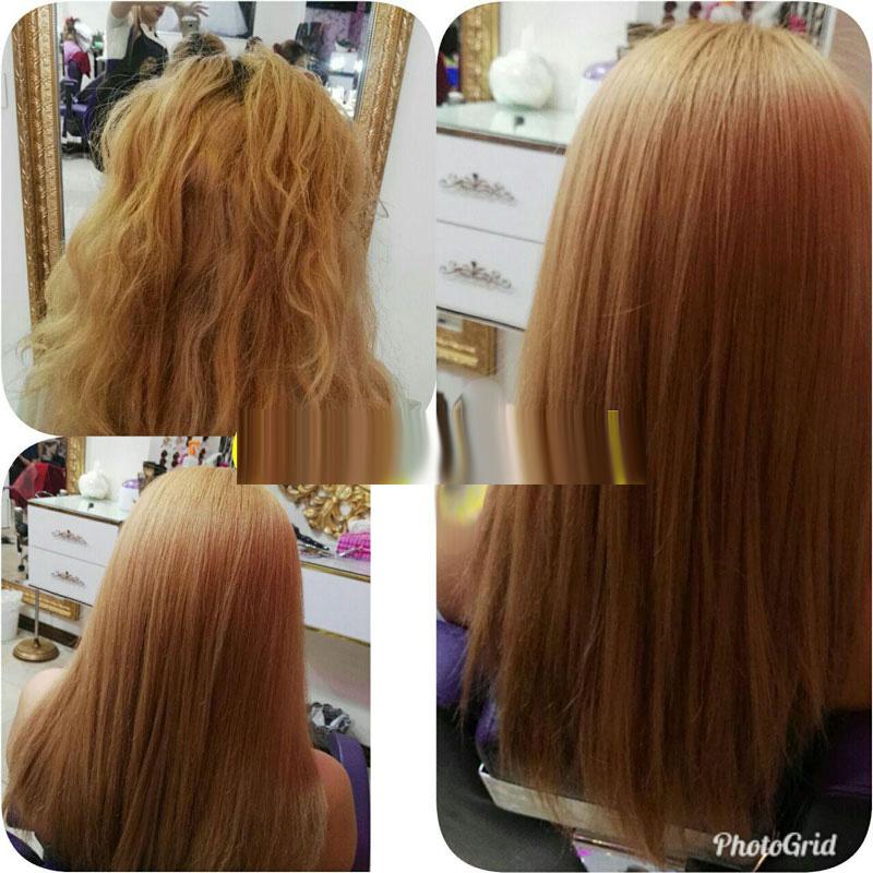 ریشه گیری ویک دست کردن رنگ مو و کراتین
