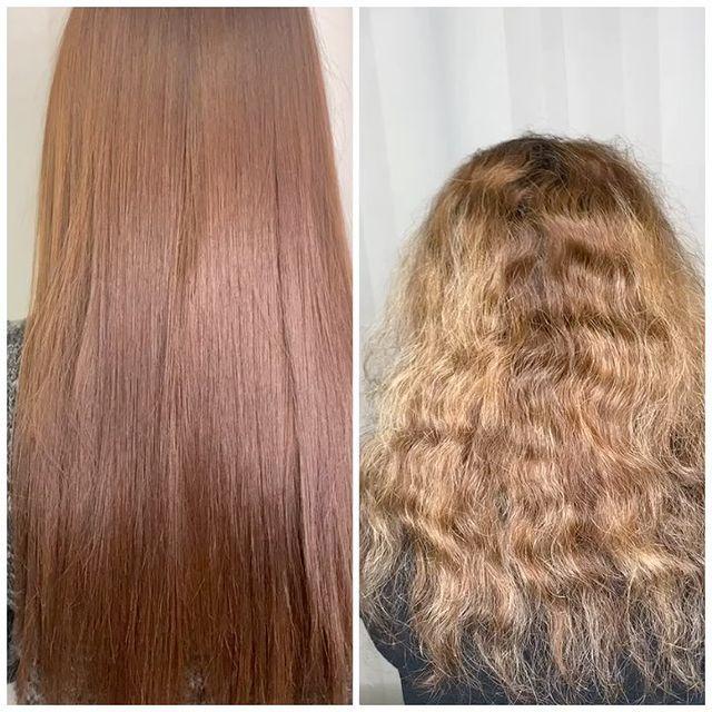 کراتینه و صافی مو همراه با رنگ مو حرفه ای در کرج