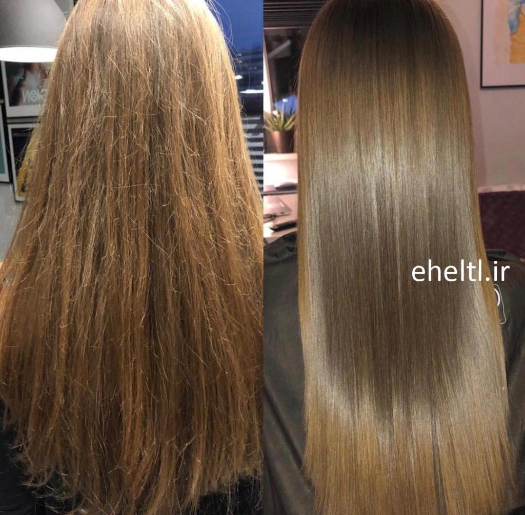 حساسیت به کراتینه مو ، کراتینه مو ب روش خانگی . طرز زدن کراتینه ب مو