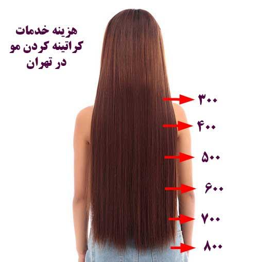 قیمت کراتینه مو ، هزینه کراتینه مو