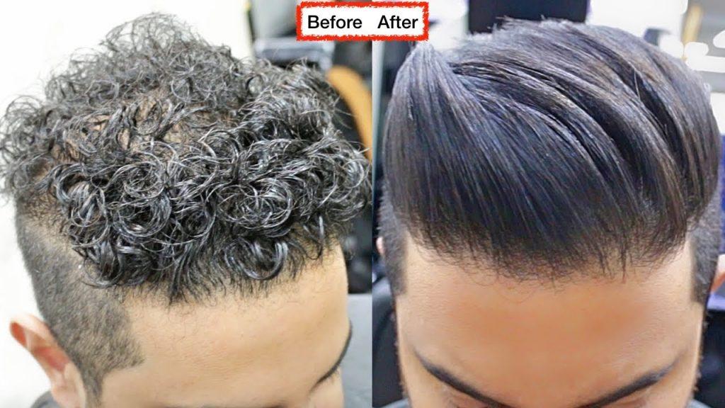 کراتینه مو مردانه ، صاف کردن موی مردانه