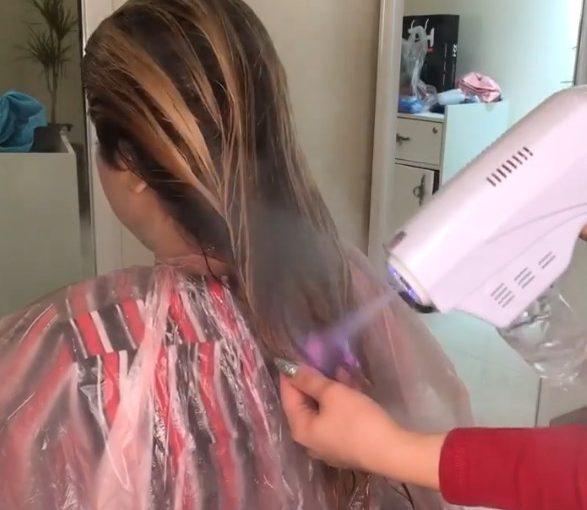 آبرسانی و هیدروژن تراپی مو با دستگاه نانو